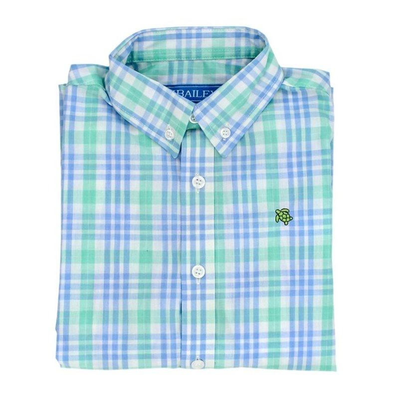 J.BAILEY BUTTON DOWN SHIRT- WATERCOLOR PLAID