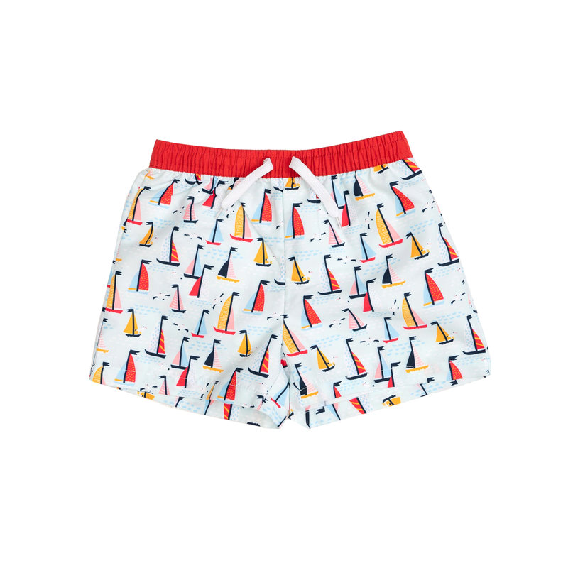 THE OAKS APPAREL COMPANY BOY SHORTS- SAILBOAT