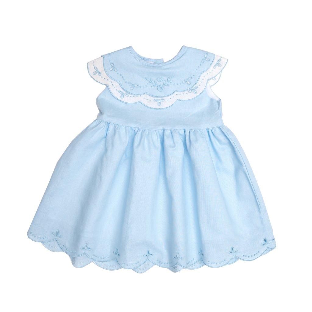 THE OAKS APPAREL COMPANY DESTINY BLUE AND WHITE DRESS