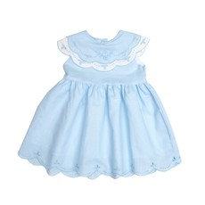 THE OAKS APPAREL COMPANY DESTINY BLUE AND WHITE DRESS
