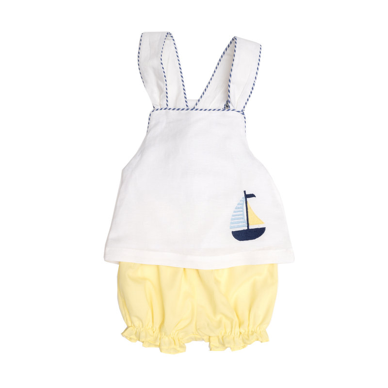 THE OAKS APPAREL COMPANY HARPER WHITE BOAT GIRL SET