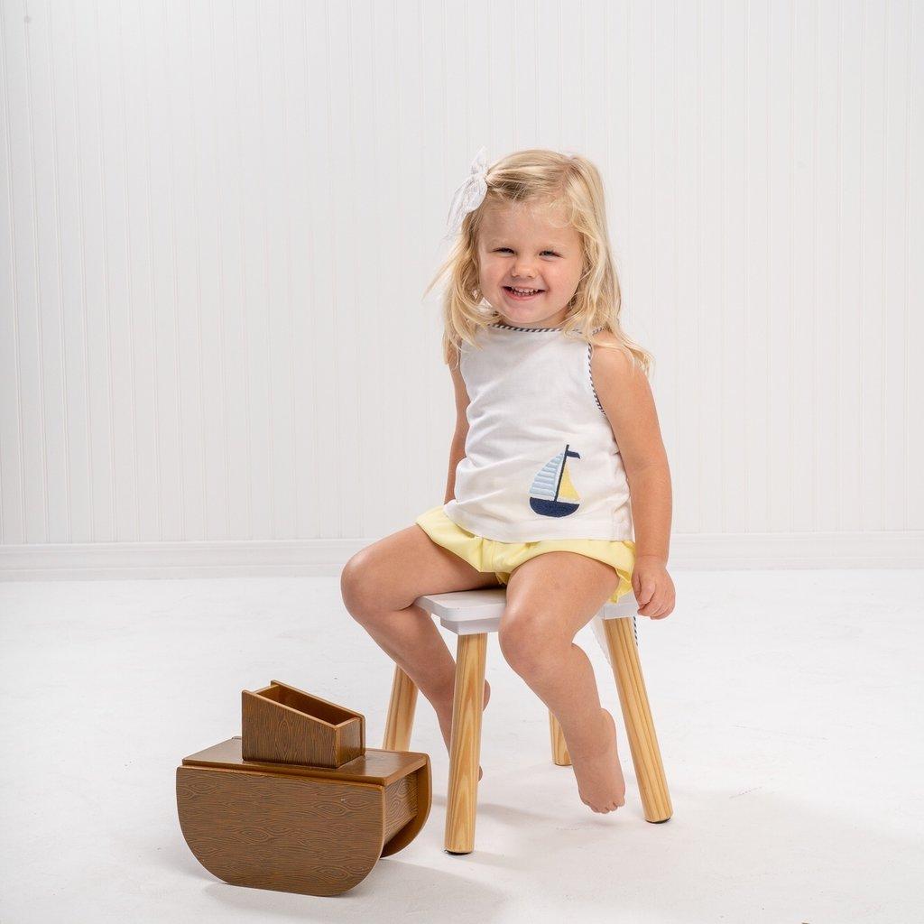 THE OAKS APPAREL COMPANY HARPER WHITE BOAT GIRL SET