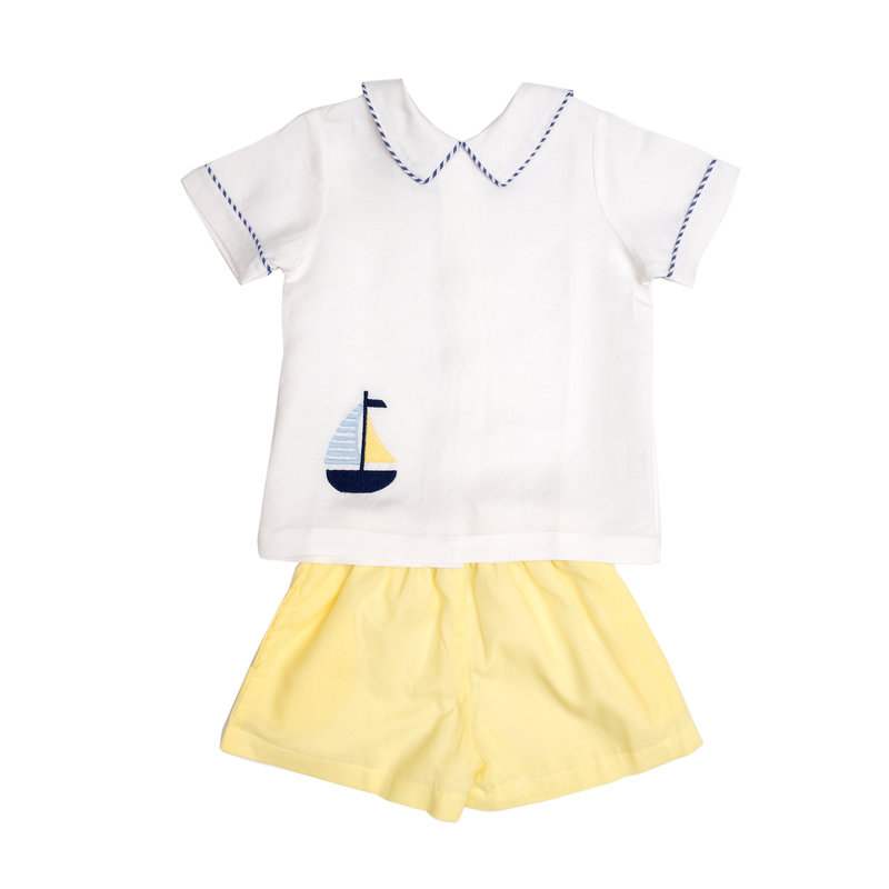 THE OAKS APPAREL COMPANY CHUCK WHITE BOAT SHORT SET