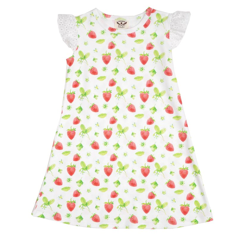 THE OAKS APPAREL COMPANY MARY KATHRYN STRAWBERRY DRESS