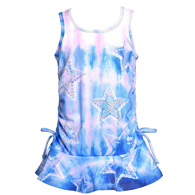 Baby Sara STAR TIE-DYE DROP WAIST PRINT DRESS