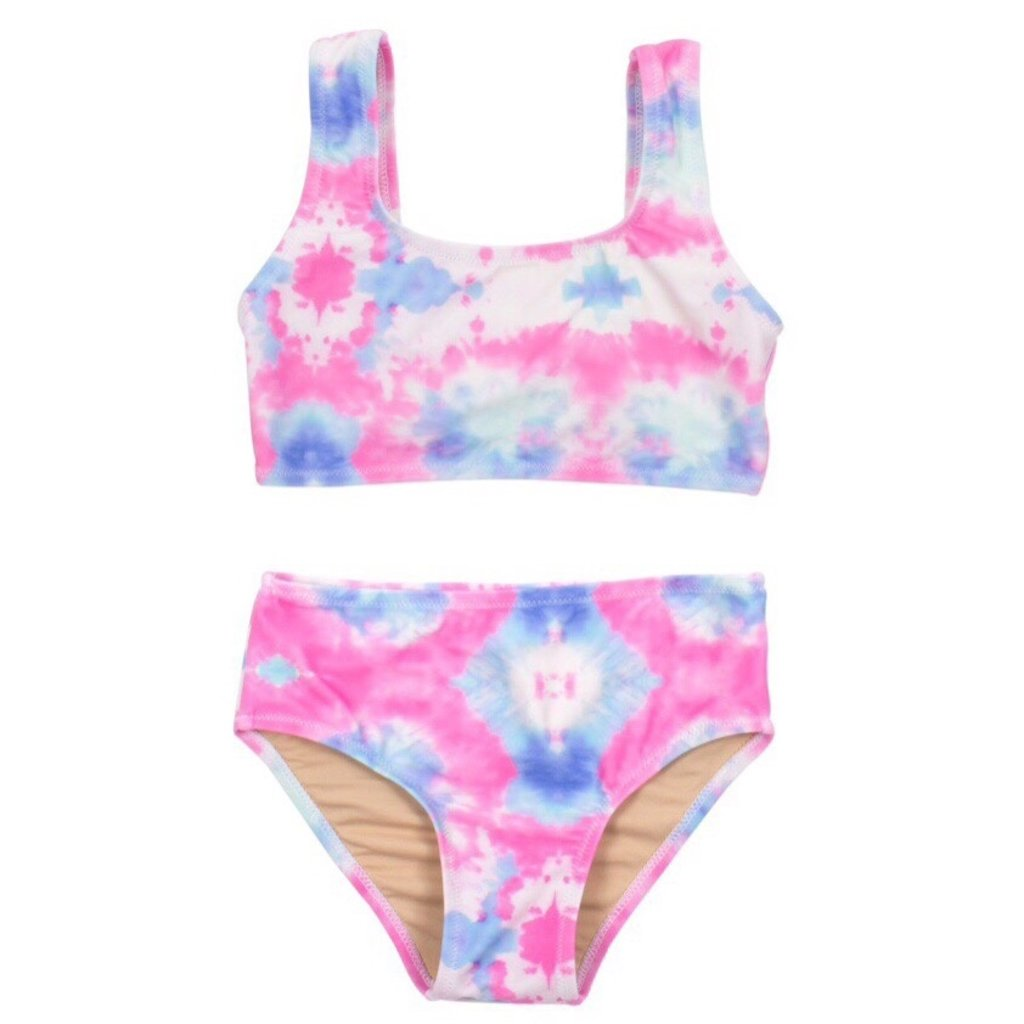 SHADE CRITTERS 2PC BIKINI- TIE DYE COTTON CANDY