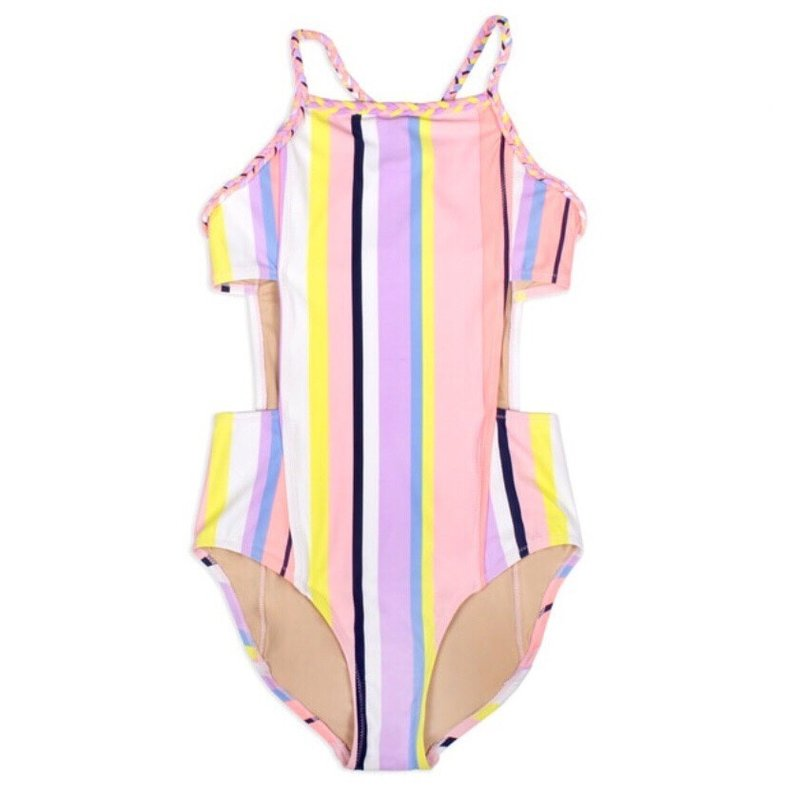 SHADE CRITTERS 1PC MONOKINI- SUMMER CORAL STRIPE