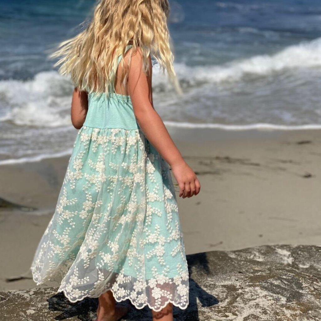 VIGNETTE EUGENIE DRESS- AQUA