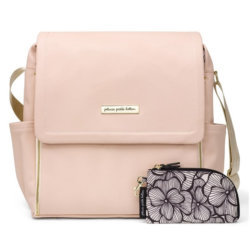 PETUNIA PICKLE BOTTOM BOXY BACKPACK- BLUSH LEATHERETTE