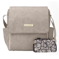 PETUNIA PICKLE BOTTOM BOXY BACKPACK- GREY MATTE LEATHERETTE