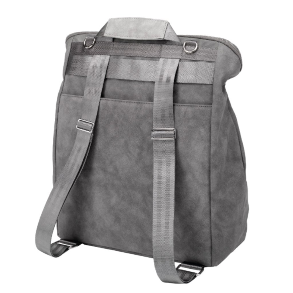 PETUNIA PICKLE BOTTOM CINCH CONVERTIBLE BACKPACK- PEWTER LEATHERETTE