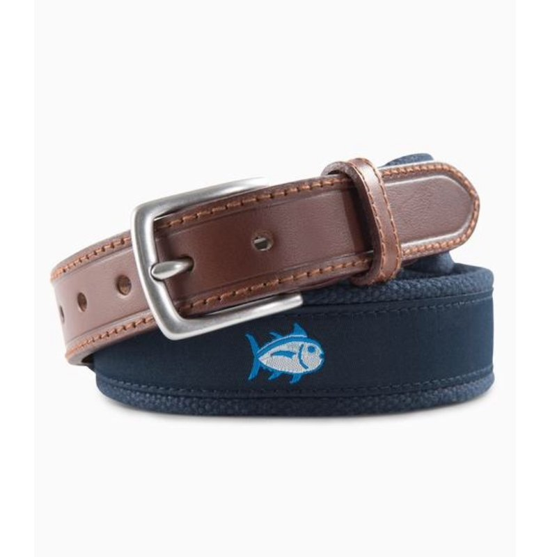 SOUTHERN TIDE Y SKIPJACK RIBBON BELT- TRUE NAVY