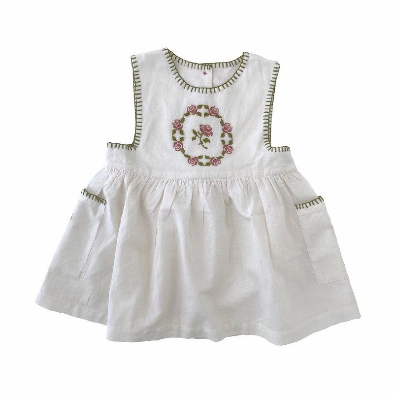 REN AND ROUGE EMBROIDERED APRON DRESS