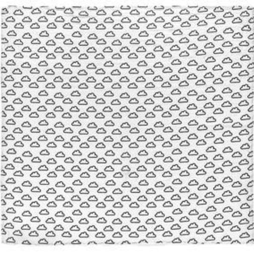 MODERN BURLAP SWADDLE- CLOUDS
