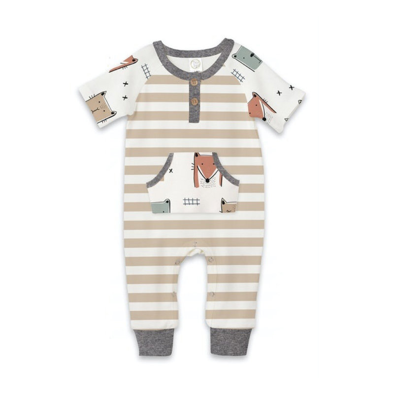 TESA BABE ANIMAL PARTY HENLEY ROMPER