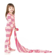 KICKEE PANTS PRINT SWADDLING BLANKET- FOREST FRUIT STRIPE