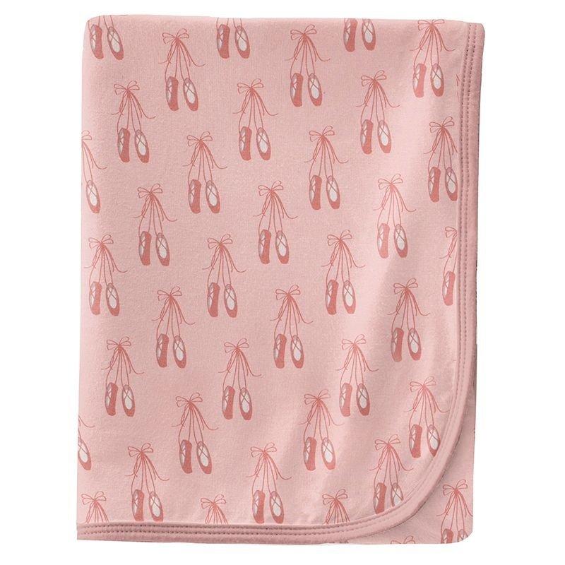 KICKEE PANTS PRINT SWADDLING BLANKET- BABY ROSE BALLET