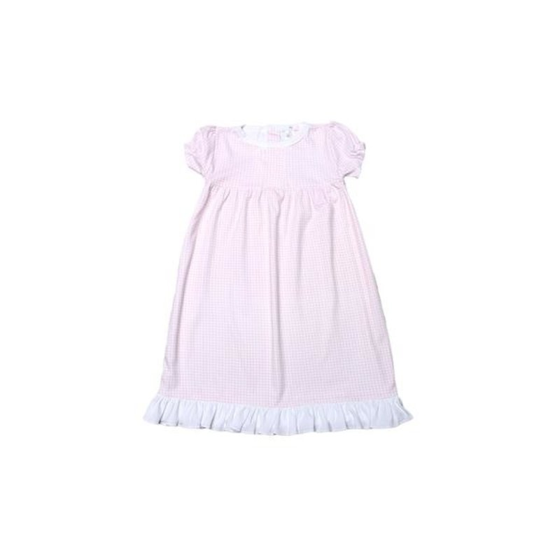 BABY BLISS COLLECTION OLIVIA PINK GINGHAM PIMA DOLL NIGHTGOWN