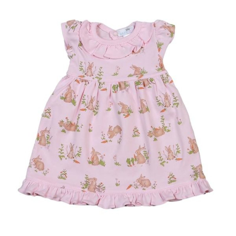 BABY BLISS COLLECTION PINK BUNNIES PIMA DOLL NIGHTGOWN