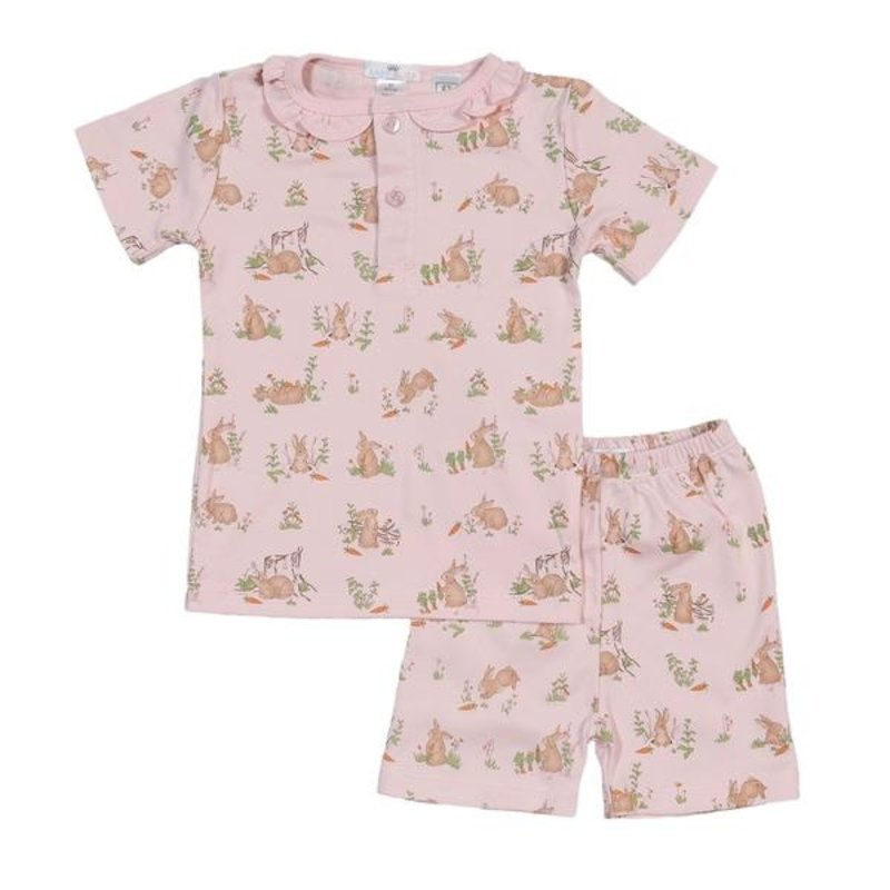 BABY BLISS COLLECTION PINK BUNNIES PIMA LOUNGEWEAR
