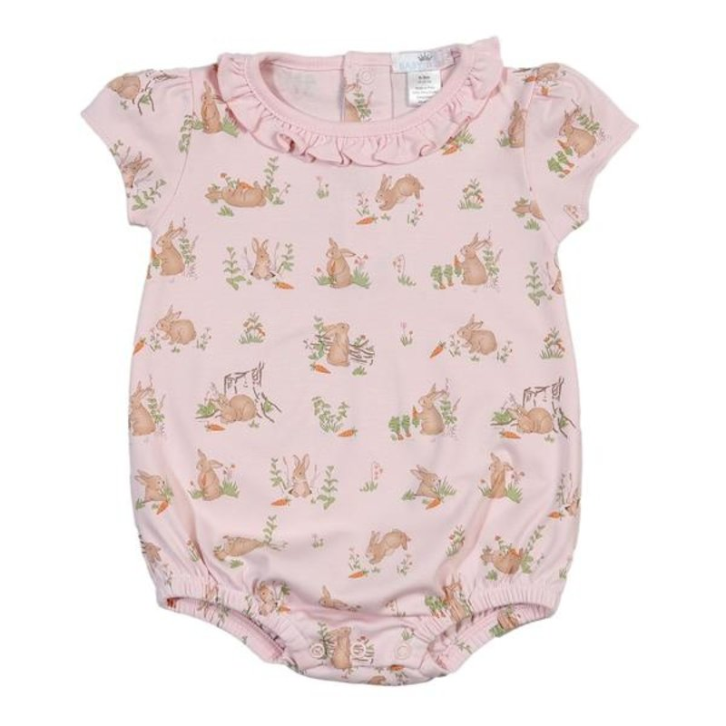 BABY BLISS COLLECTION PINK BUNNIES PIMA BUBBLE