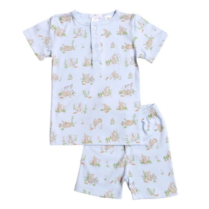 BABY BLISS COLLECTION BLUE BUNNIES PIMA LOUNGEWEAR