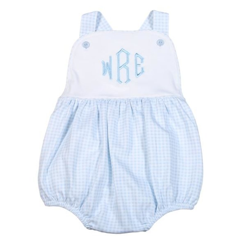 BABY BLISS COLLECTION PETER BLUE GINGHAM PIMA SUN BUBBLE