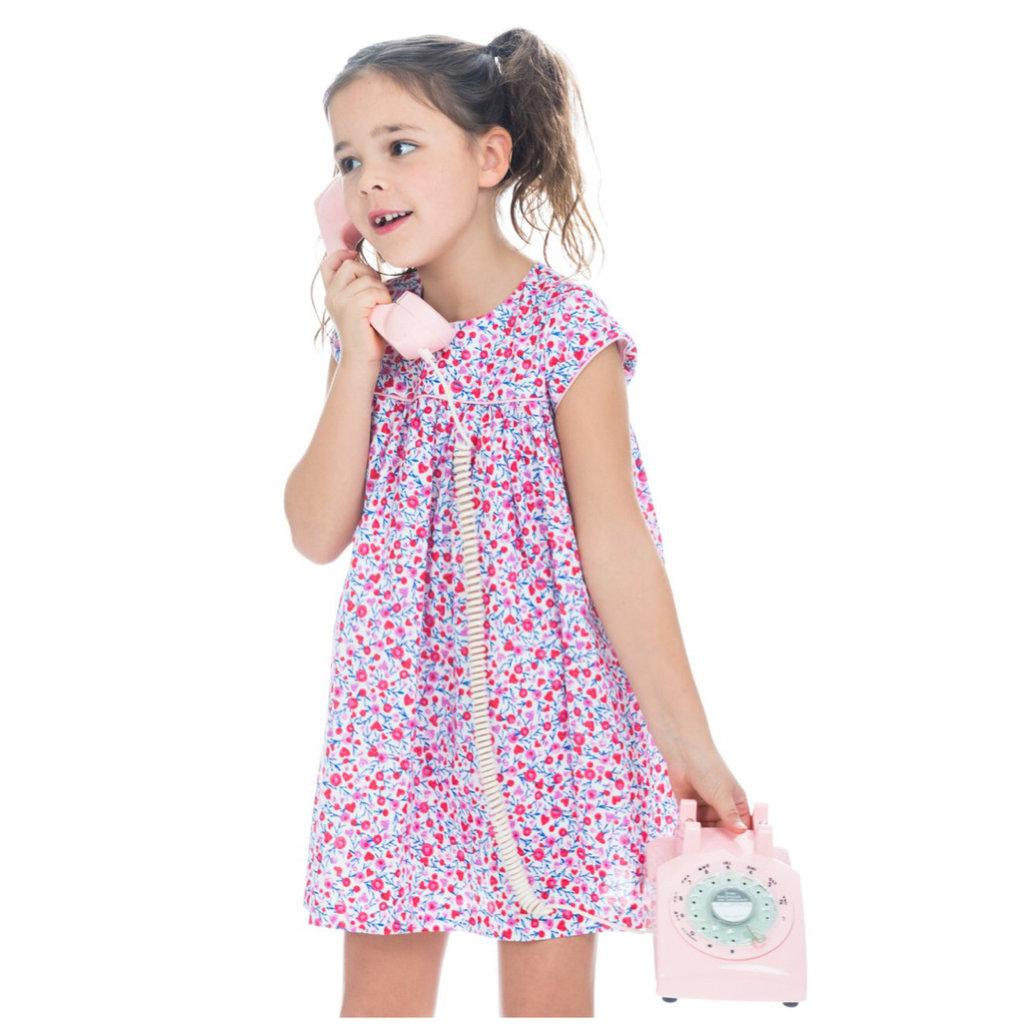 LITTLE ENGLISH CHARLOTTE DRESS- VALENTINE FLORAL