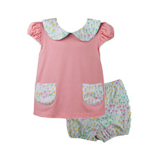 LULLABY SET BLESSINGS BLOUSE AND MUNRO BLOOMER- TIP TOE THROUGH THE TULIPS