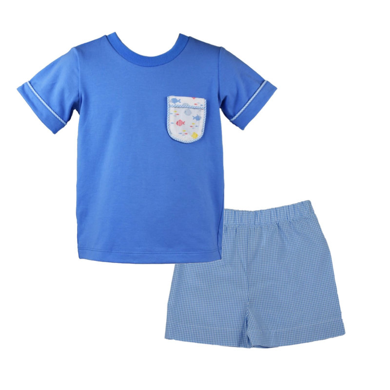 LULLABY SET CHARLIE SHIRT AND STEWART SHORT- FISH LIPS SUMMER KISS