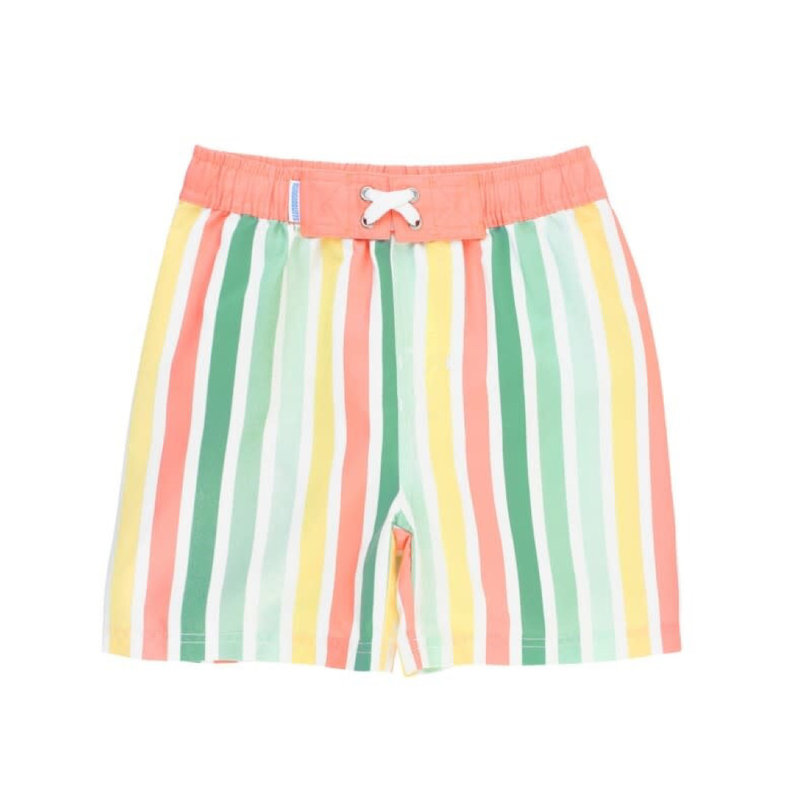 RUGGED BUTTS SALTWATER STRIPE SWIM TRUNKS