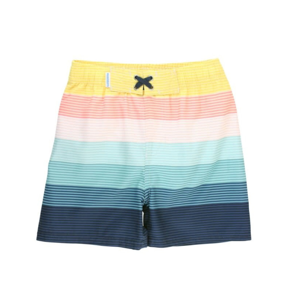 RUGGED BUTTS ISLAND STRIPE SWIM TRUNKS