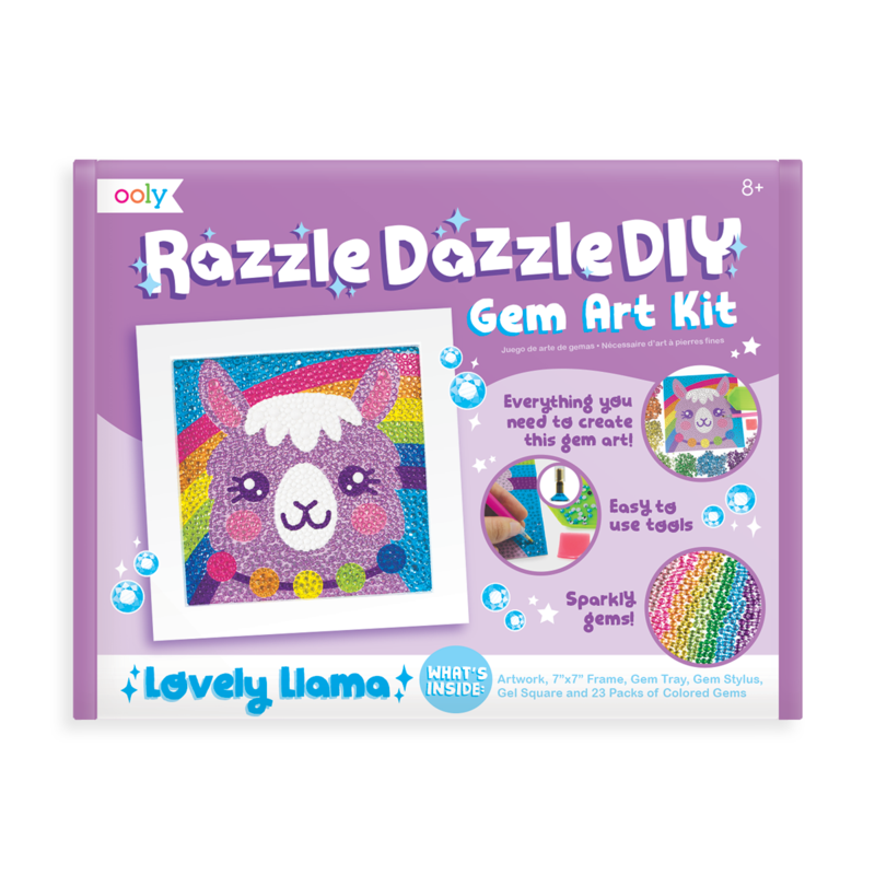 OOLY RAZZLE DAZZLE D.I.Y. GEM ART KIT- LOVELY LLAMA