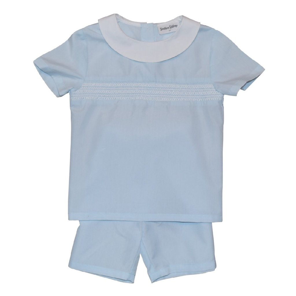 SOUTHERN SIBLINGS BLESS YOUR HEART SHORTS SET- BLUE
