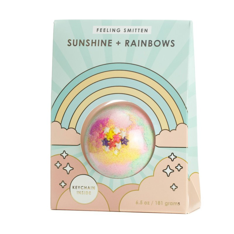 FEELING SMITTEN SUNSHINE + RAINBOWS SURPRISE KEY CHAIN BATH BOMB