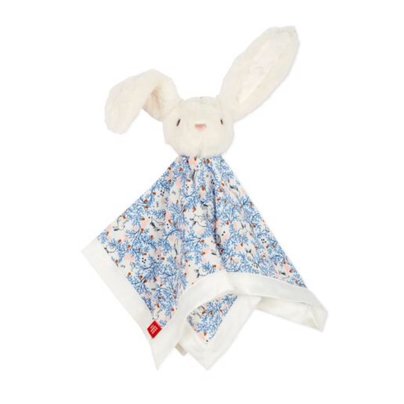 MAGNIFICENT BABY SOMEBUNNY FLORAL MODAL LOVEY BLANKET