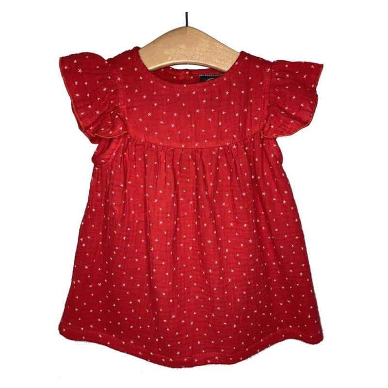 EMMA JEAN KIDS RED STAR A/S DRESS