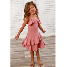 LEMON LOVES LIME FLUTTERING FLOW DRESS- MAUVE GLOW