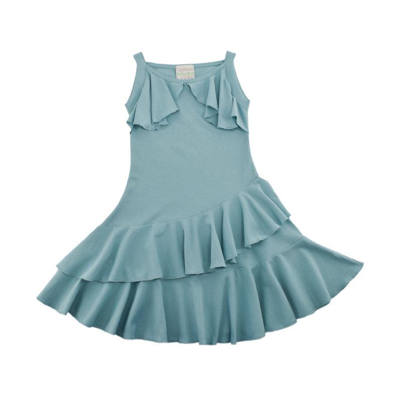LEMON LOVES LIME FLUTTERING FLOW DRESS- STERLING BLUE