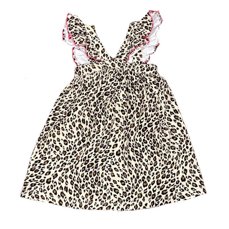 SAGE & LILLY LAUDERDALE LEOPARD CAROLINE CROSS DRESS