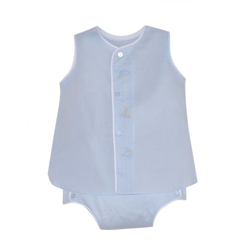 BABY SEN BLUE BLANCHE BOY DIAPER SET