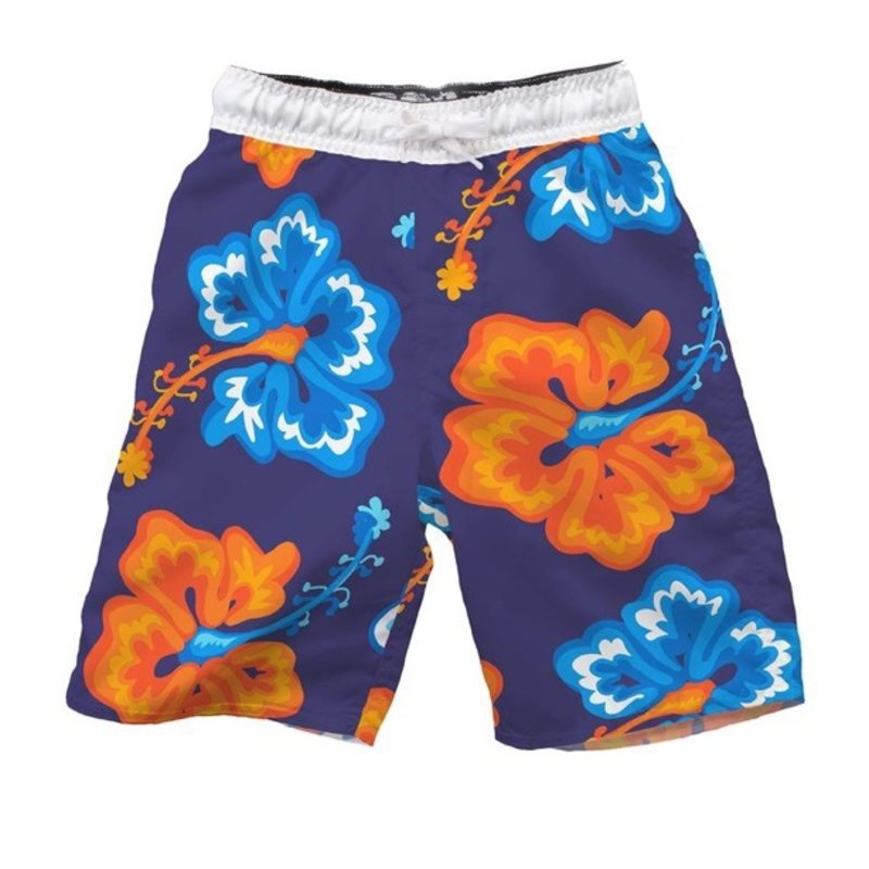 WES AND WILLY BIG HIBISCUS TRUNK- MIDNIGHT