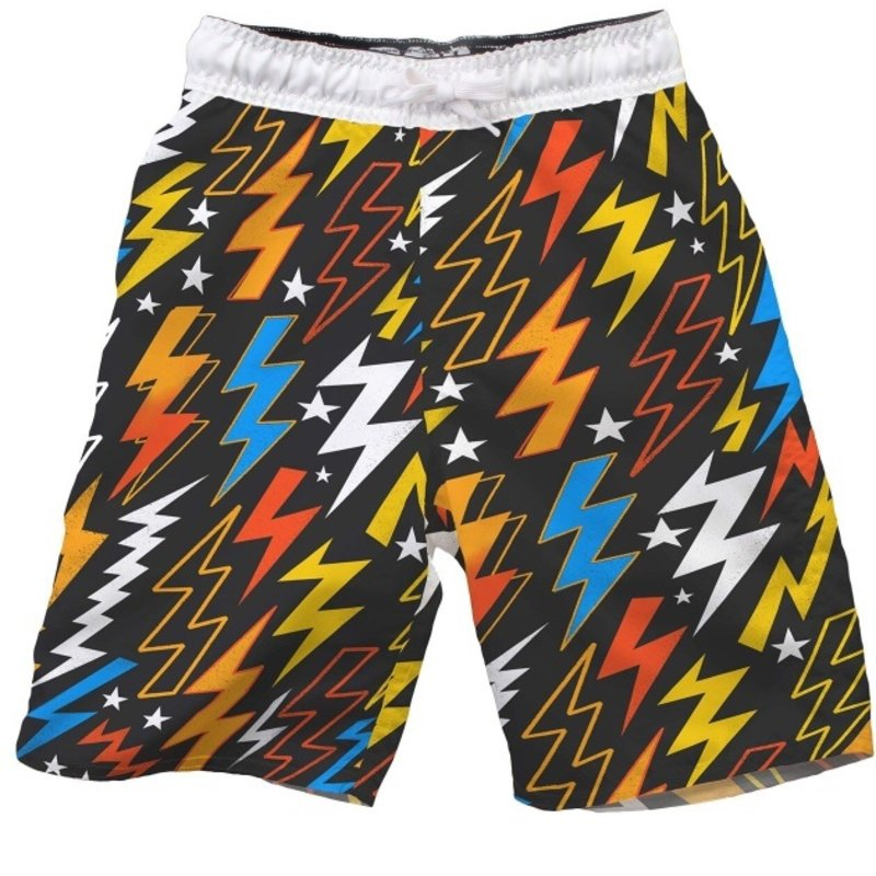 WES AND WILLY LIGHTNING BOLT TRUNK- BLACK