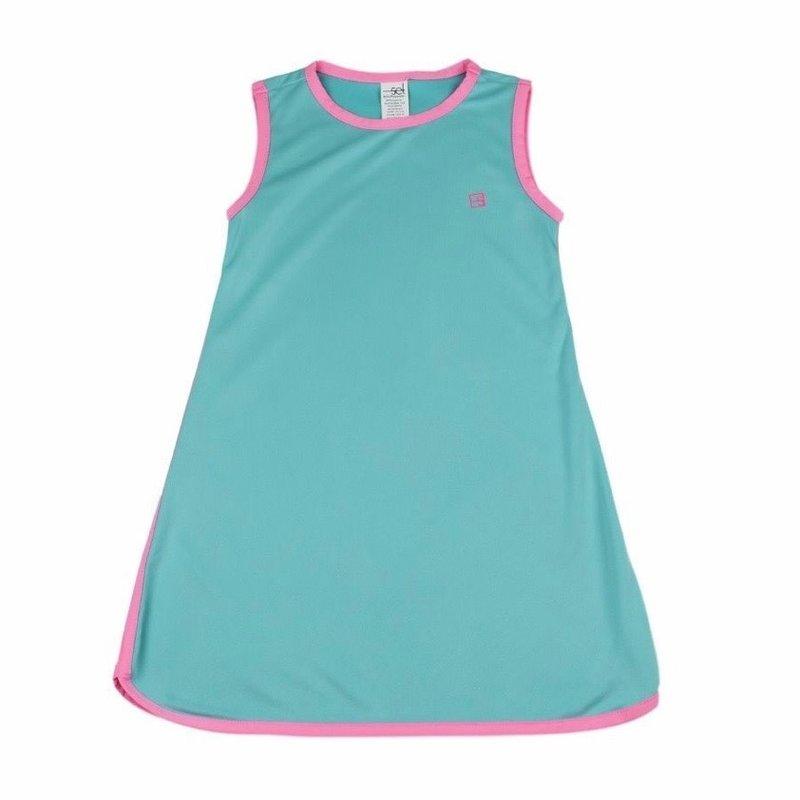 SET ATHLEISURE TINSLEY TENNIS DRESS- TURQ/PINK