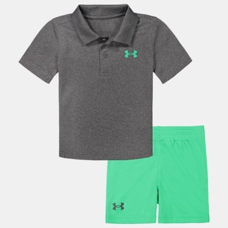 UNDER ARMOUR UA POLO SET- PITCH GRAY
