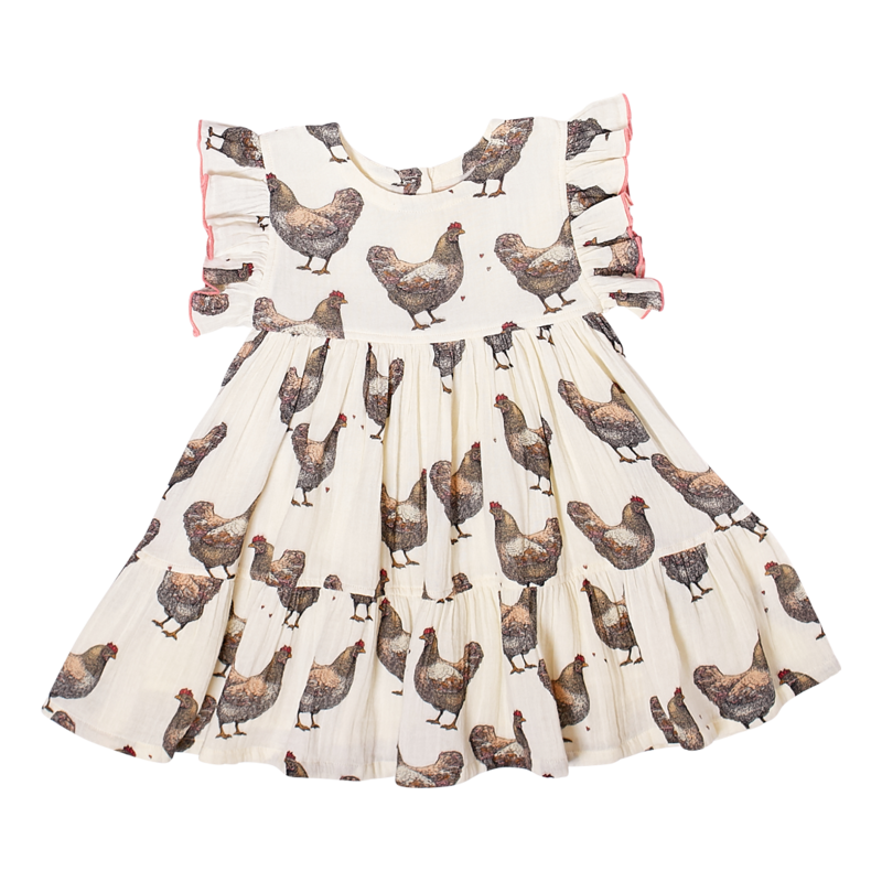 PINK CHICKEN KIT DRESS- CHICKENS