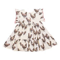 PINK CHICKEN KIT DRESS- CHICKENS