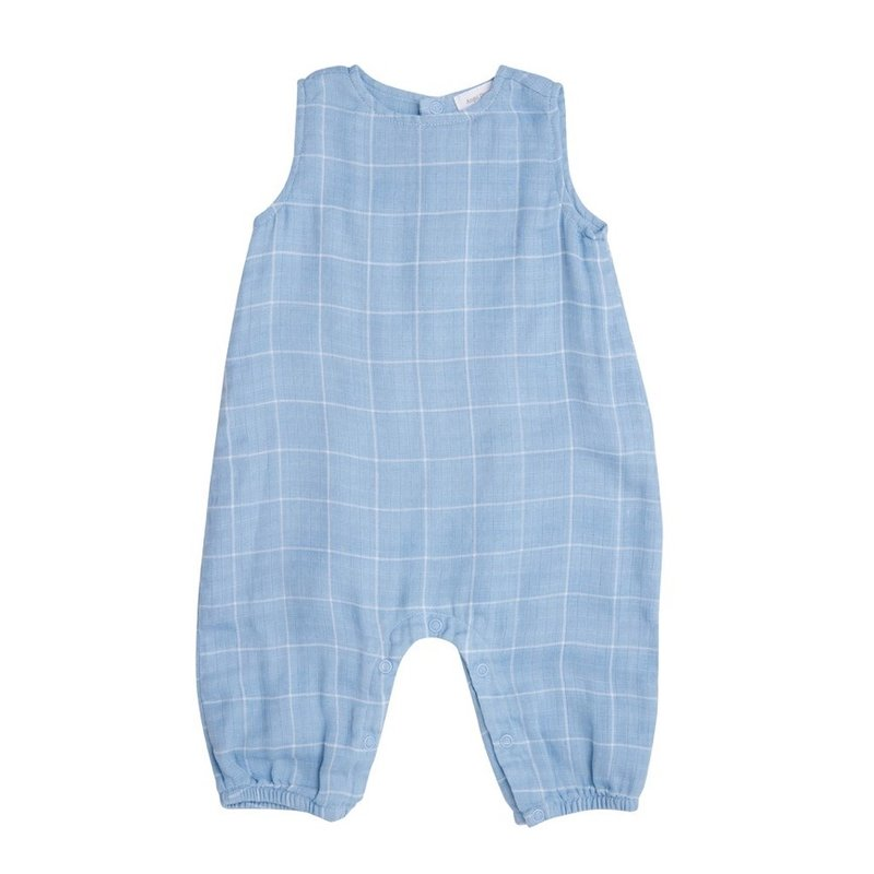 ANGEL DEAR OFF THE GRID SLVLESS ROMPER- BLUE