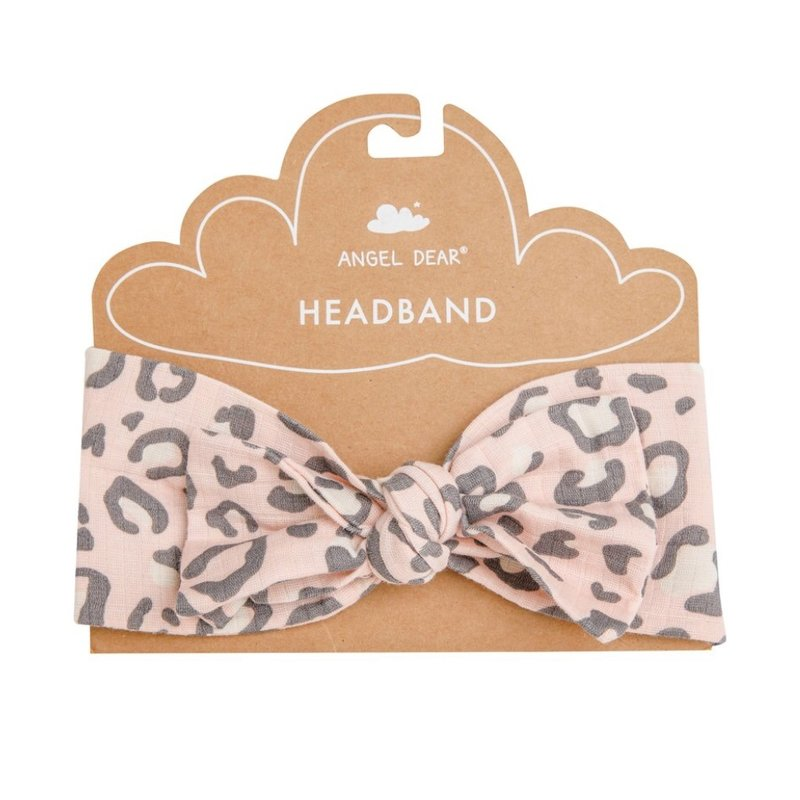 ANGEL DEAR LEOPARD HEADBAND- PINK