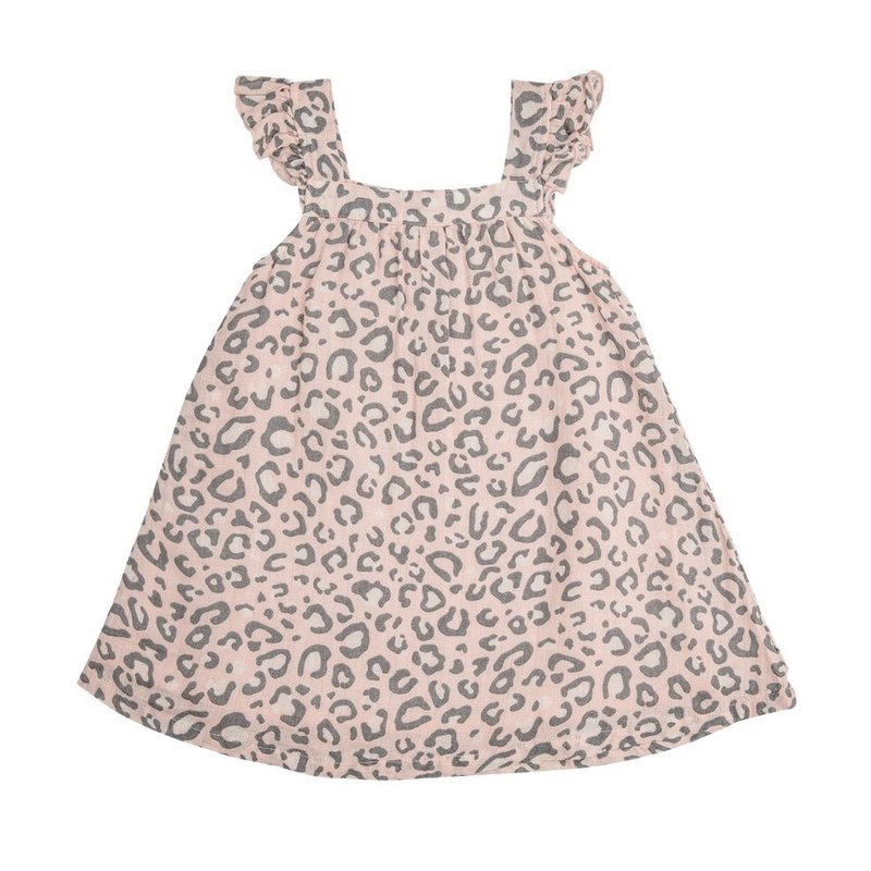 ANGEL DEAR LEOPARD SUNDRESS- PINK